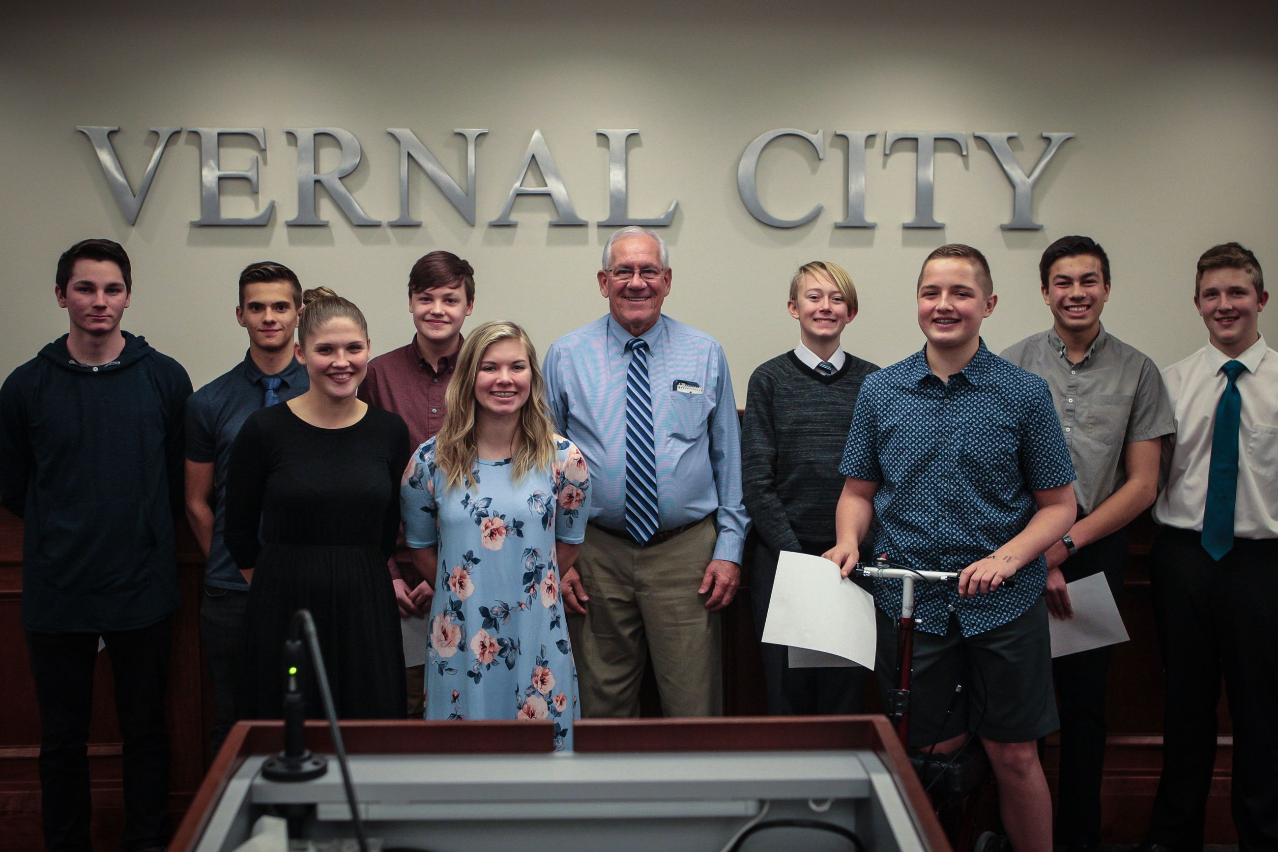 Vernal Youth City Council Swearing In 2018-8
